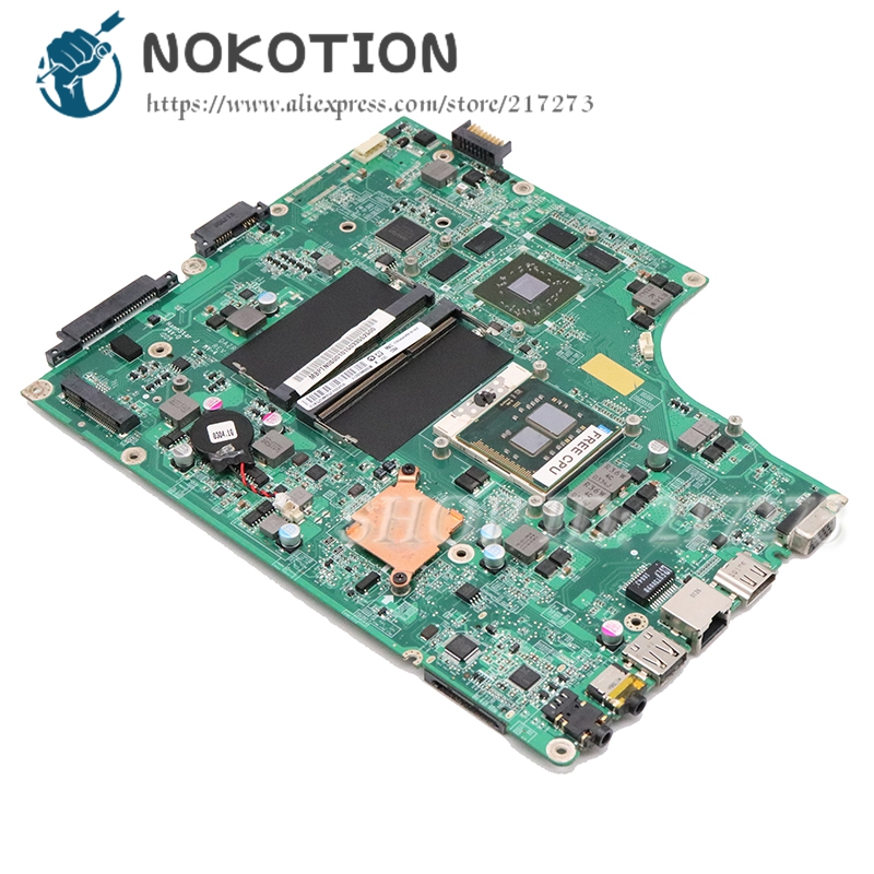 NOKOTION For <font><b>Acer</b></font> ASPIRE 5820 5820T <font><b>5820TG</b></font> laptop <font><b>motherboard</b></font> MB.PTN06.001 MBPTN06001 DAZR7BMB8E0 HM55 DDR3 HD5650 free cpu image
