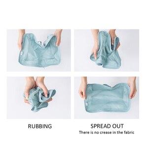 Image 4 - Hohe Qualität 7 Teile/satz Verpackung Cube für Koffer 2020 Reise Veranstalter Tasche Frauen Männer Schuh Kleidung Gepäck Reisetaschen