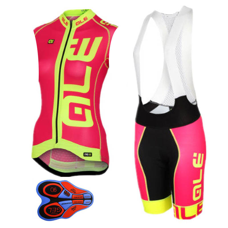 Ale Cycling Clothing 2018 Women Cycling Jersey bike sleeveless vest bib shorts set Breathable Bicycle clothes Ropa Ciclismo fualrny summer breathable mtb bike clothing women cycling wear ropa ciclismo bicycle clothes cycling jersey set with bib shorts