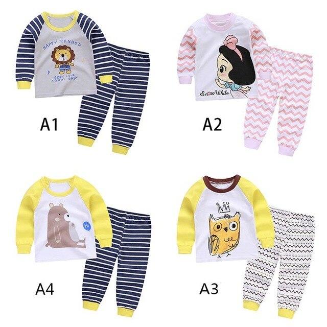 c5ac713bbbe5 Spring Baby Clothes Set Pajamas Clothes Boys Girls Cartoon Sleepwear ...