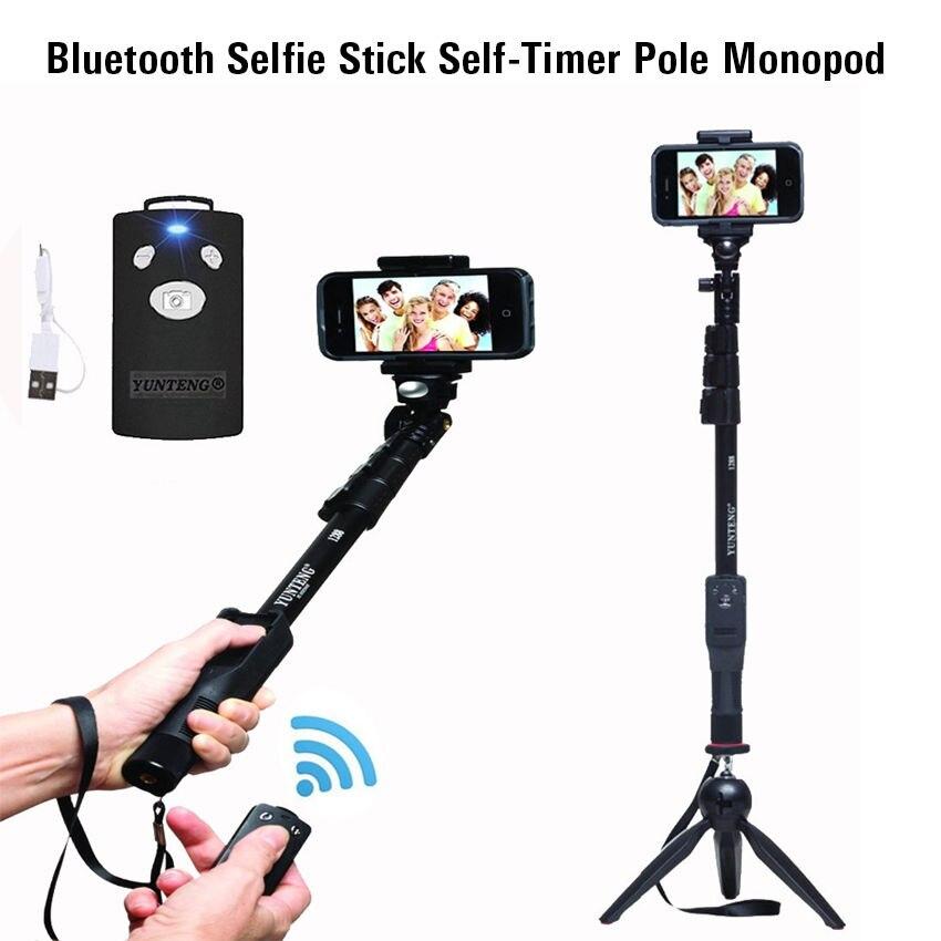 Yunteng 1288 Bluetooth Selfie Bâton Trépied D'origine Auto-Minuterie Pôle Manfrotto Pour Samsung NOTE 9 S 10 Pour Huawei smartphone Caméra