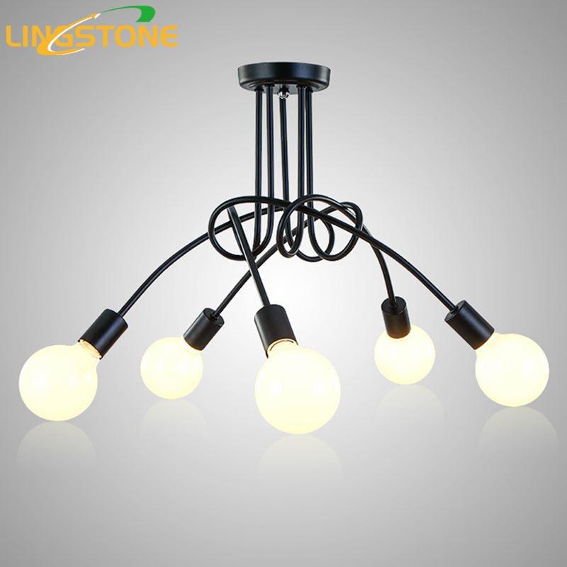 Führte Deckenleuchten Für Das Wohnzimmer Luminaria E27 Decke Lampen  Leuchten Für Hauptbeleuchtung Lamparas De Techo Glanz 3/5 Köpfe