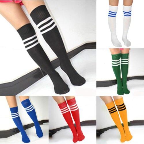 Unisex Sports Sock Football Women Men Striped Knee Hight Athletic Sport Soccer Football Running Exercise Socks Tube Stock