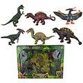 6Pcs/Set A Large Dinosaur Toys Model Animal Children's gift Simulation Model Dinosaur Toy Figure Vinyl Model Assembly Puzzle Toy