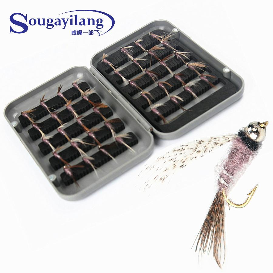 High Quality 40pcs/ Box Exquisite Fly Fishing Lure Single Hook Dry Fly Fishing Trout Salmon Set Flies Fishing Lures joshnese fly fishing lure large waterproof fly fish box fly box fishing storage quality swing leaf black free shipping