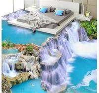 Custom Photo Floor Wallpaper 3D The Waterfall Water Floor 3d Mural PVC Wallpaper Self Adhesion Floor