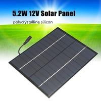 12V 5.2W 미니 태양 전지 패널 다결정 태양 전지 실리콘 에폭시 태양 DIY 모듈 시스템 배터리 충전기 + DC 출력