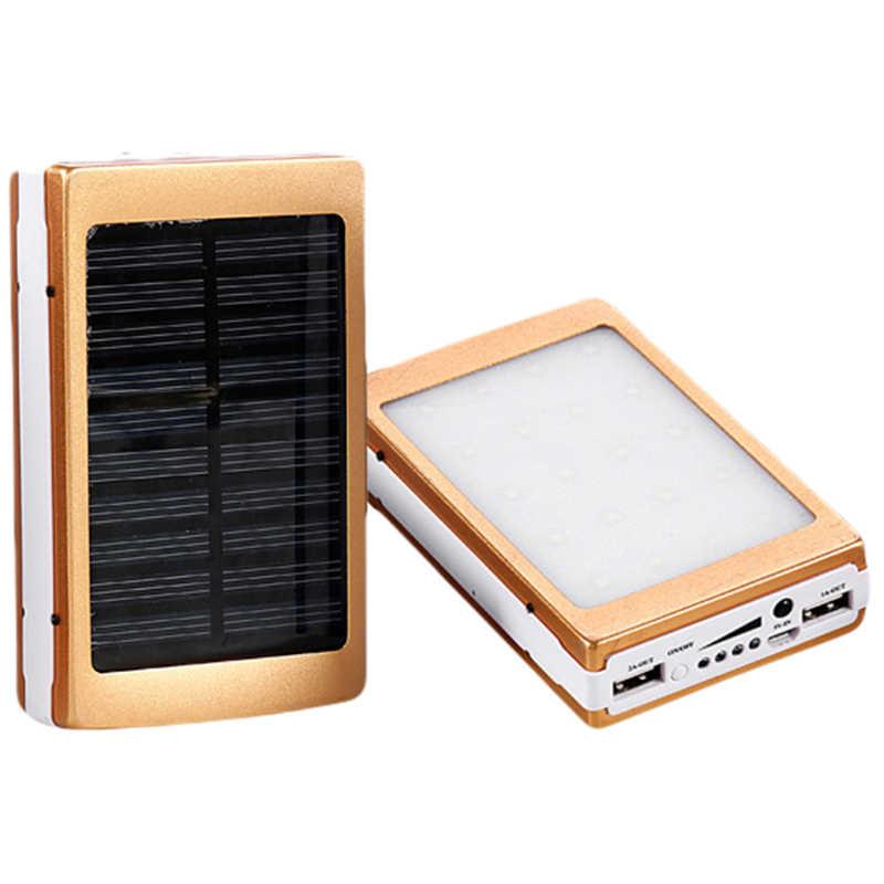 Portátil DIY 5x18650 Powerbank Pover 18650 banco de potencia de energía Solar banco caja Dual USB Kit teléfono cargador de linterna