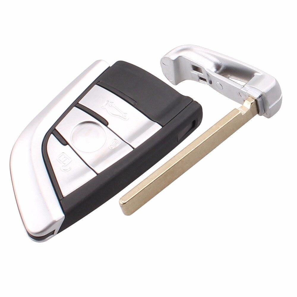 3 boutons Smart remplacement à distance clé Shell Case Fob clé Case pour BMW X5 X 6 Case sans clé Fob lame non coupée