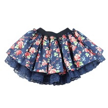 Stylish Baby Kids Girls Floral Lace Tutu Skirt Flower Princess Party Mini Cake Skirt L07