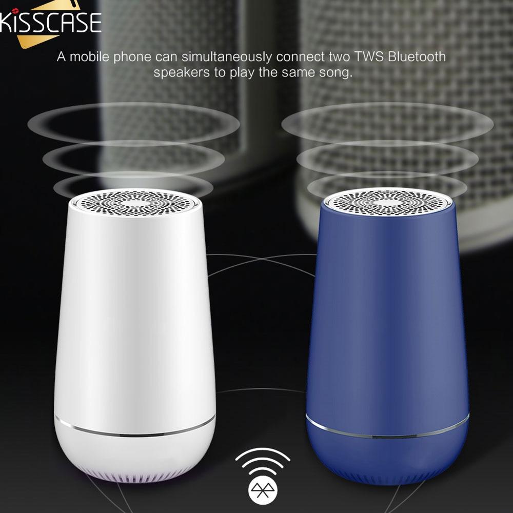 KISSCASE Potable Wireless Speaker 3D Surround Bass Wireless Loudspeaker Box Outdoor Travel Music Bass Speaker for Smartphone