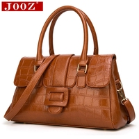 JOOZ Boston Luxury Handbags Women Bag Designer Alligator pattern leather tote bag Famous Brand High Quality ladies messenger bag