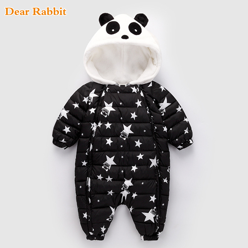 Winter Panda Baby Rompers Overalls Bodysuit Clothes Jumpsuit Newborn Girl Boy Duck Down Snowsuit Clothes Kids infant Snow Wear