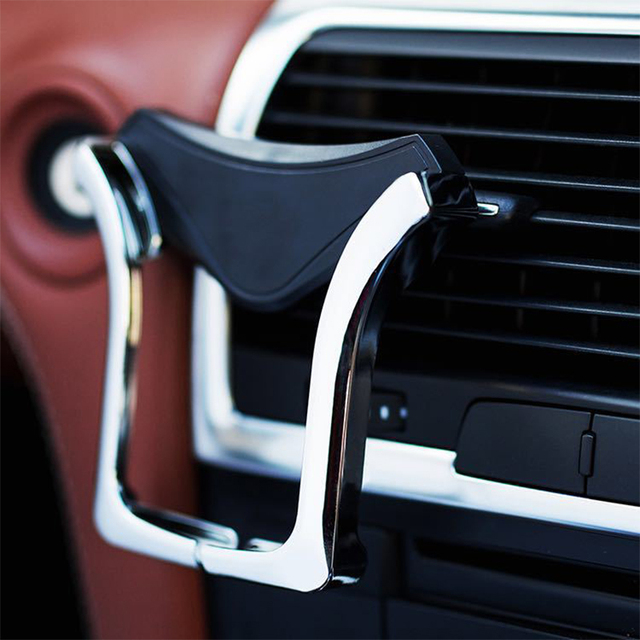 IKSNAIL U-type Gravity Car GPS Stand Phone Holder Automatic Load-bearing Induction Navigation Bracket Air Vent Mount Car Holder