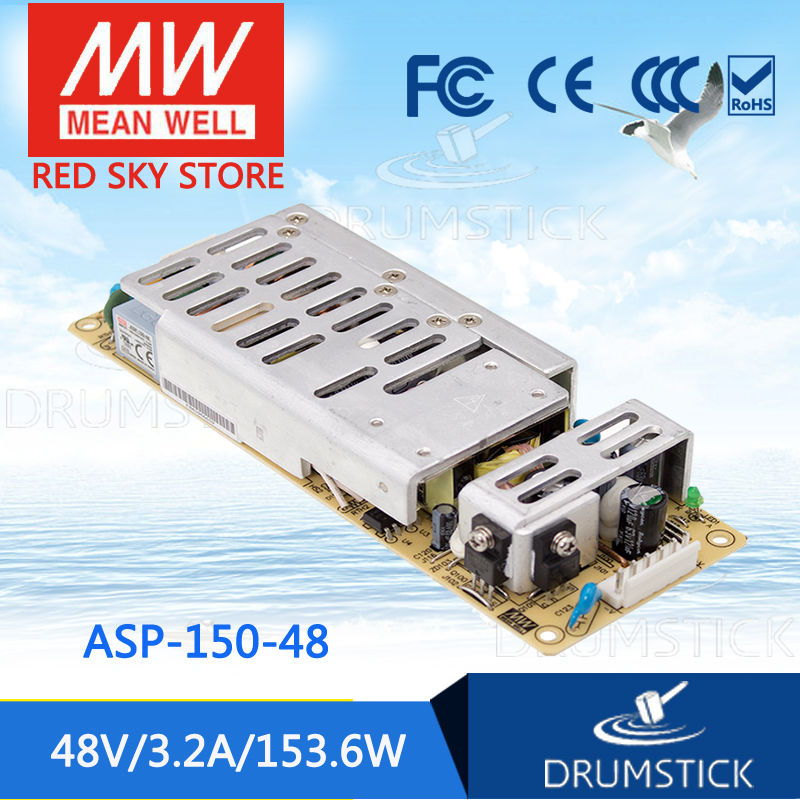 MEAN WELL ASP-150-48 48V 3.2A meanwell ASP-150 48V 153.6W Single Output with PFC Function [Real6] best selling mean well epp 150 48 48v 2 1a meanwell epp 150 48v 100 8w single output with pfc function [hot6]