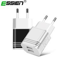 Essien USB Charger Universal Dual USB Phone Charger 5V 2.1A EU Metal Fast Charger Adapter