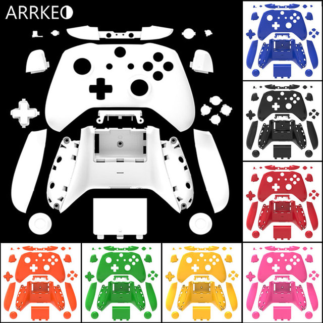 ARRKEO For Xbox One S/X Matte Blue Full Custom Shell Case Button For Xbox One Slim Wireless Controller Cover Replacement Housing