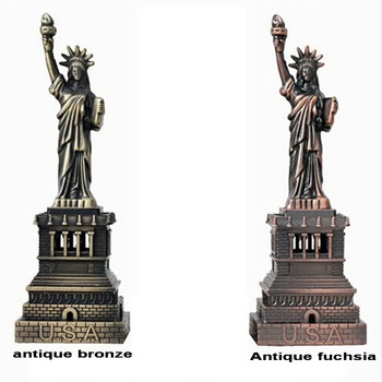 Home Decor metal Crafts vintage model The Statue Of Liberty Figurine Pattern Photography Props Gifts souvenir 15cm