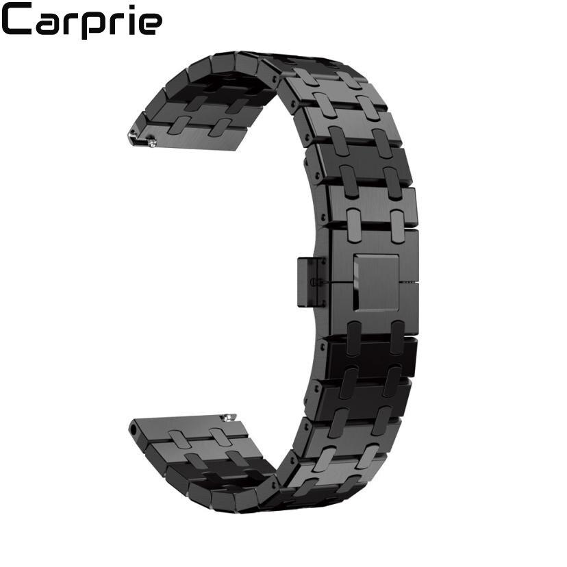 Nouveau meilleur prix! Bracelet de montre en acier inoxydable véritable Bracelet pour Samsung Gear S3 Frontier montre livraison directe jul19
