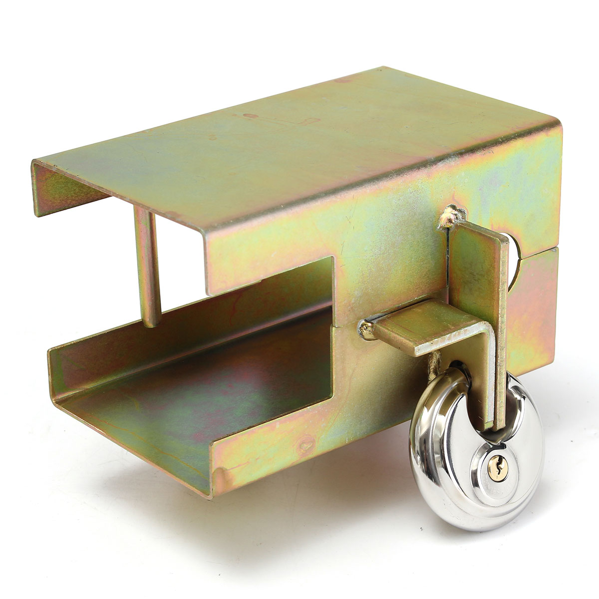 Audew Universal Metal Trailer Security Lock Tow Anti Theft Lock With 2 Keys