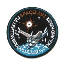NASA Space AB3 Badge Patches Embroidery Customize Logo Spacelab3 Patch SpaceLab Life iron-ons Patches For Tshirt Jacket Hat(China (Mainland))