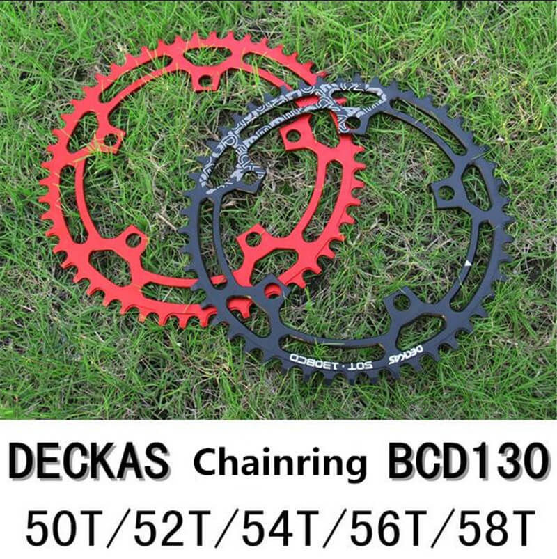 DECKAS Round Bicycle Chainwheel 130 BCD 50T 52T 54T 56T 58T Chainring for MTB Mountain Road