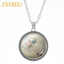 TAFREE Sailing Butterfly Necklace Christian Style artistic pendant model fashion great gift women accessories jewelry A95