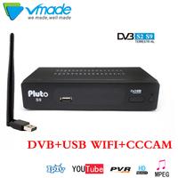 Vmade 1 Year Europe C-line Server HD DVB-S2 S9 lnb Satellite   Receiver   Full 1080P Spain Portugal Arabic   TV   box With USB Wifi Rece