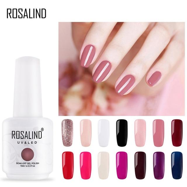 ROSALIND 15ml Gel nail polish White soak off Manicure UV LED Need Lamp for Nail Art Design Gel varnishes