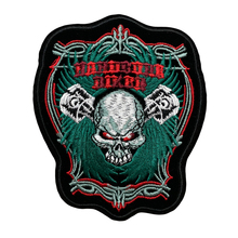 Factory Customized Embroidered DIY Punk Crossbone Sew on Iron On Patch Badge Clothes Fabric Applique patch Any size design