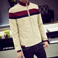 2016 spring Men Casual Jackets Europe fashion long sleeve men's clothes Patchwork stand Collar slim outwear Free shipping M-5XL