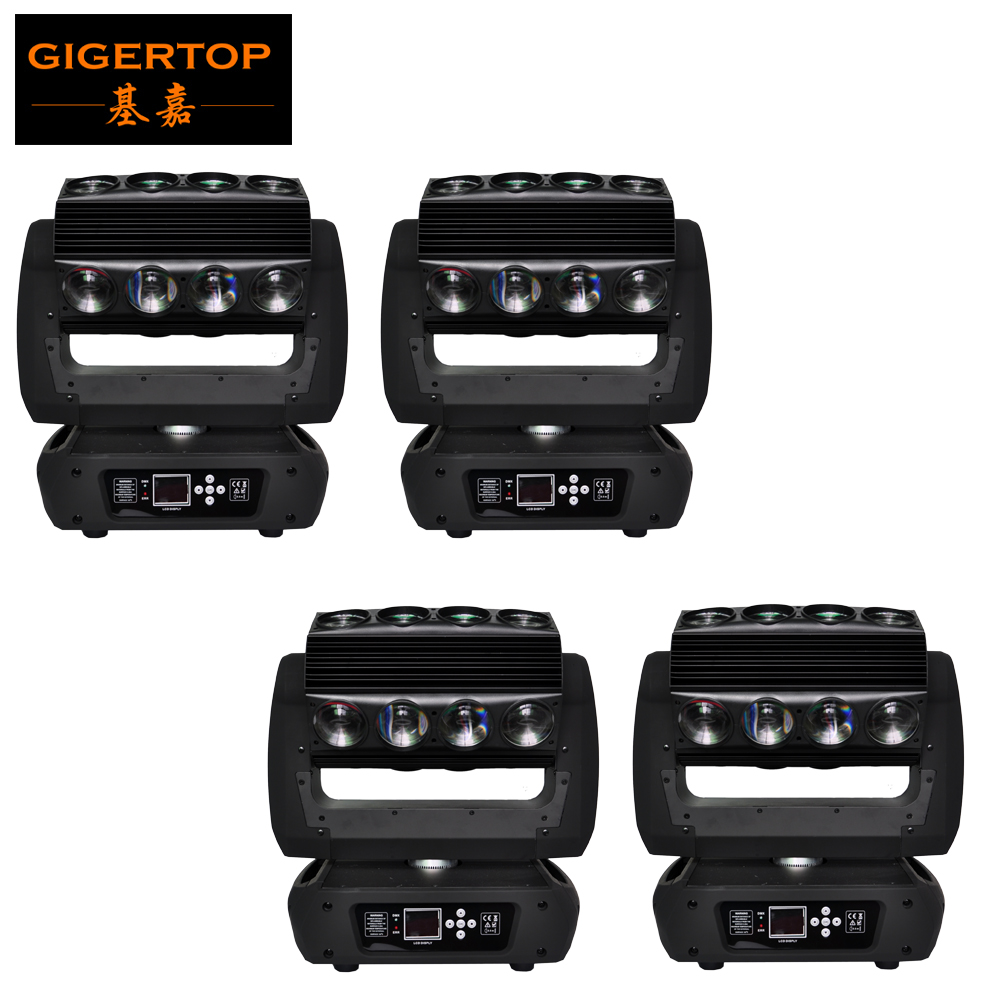 Freeshipping 4 Unit 16*25W 4 IN 1 RGBW Led Beam Moving Head Spider Light DMX DJ Stage Lighting Dynamic Effect Show Strobe/Flash