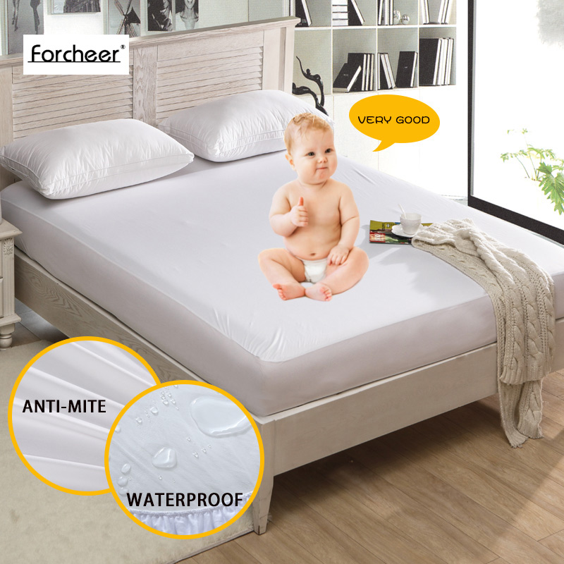 Bed Waterproof Cover Queen Size Smooth Mattress Protector For Wetting Breathable Hypoallergenic Anti Mite