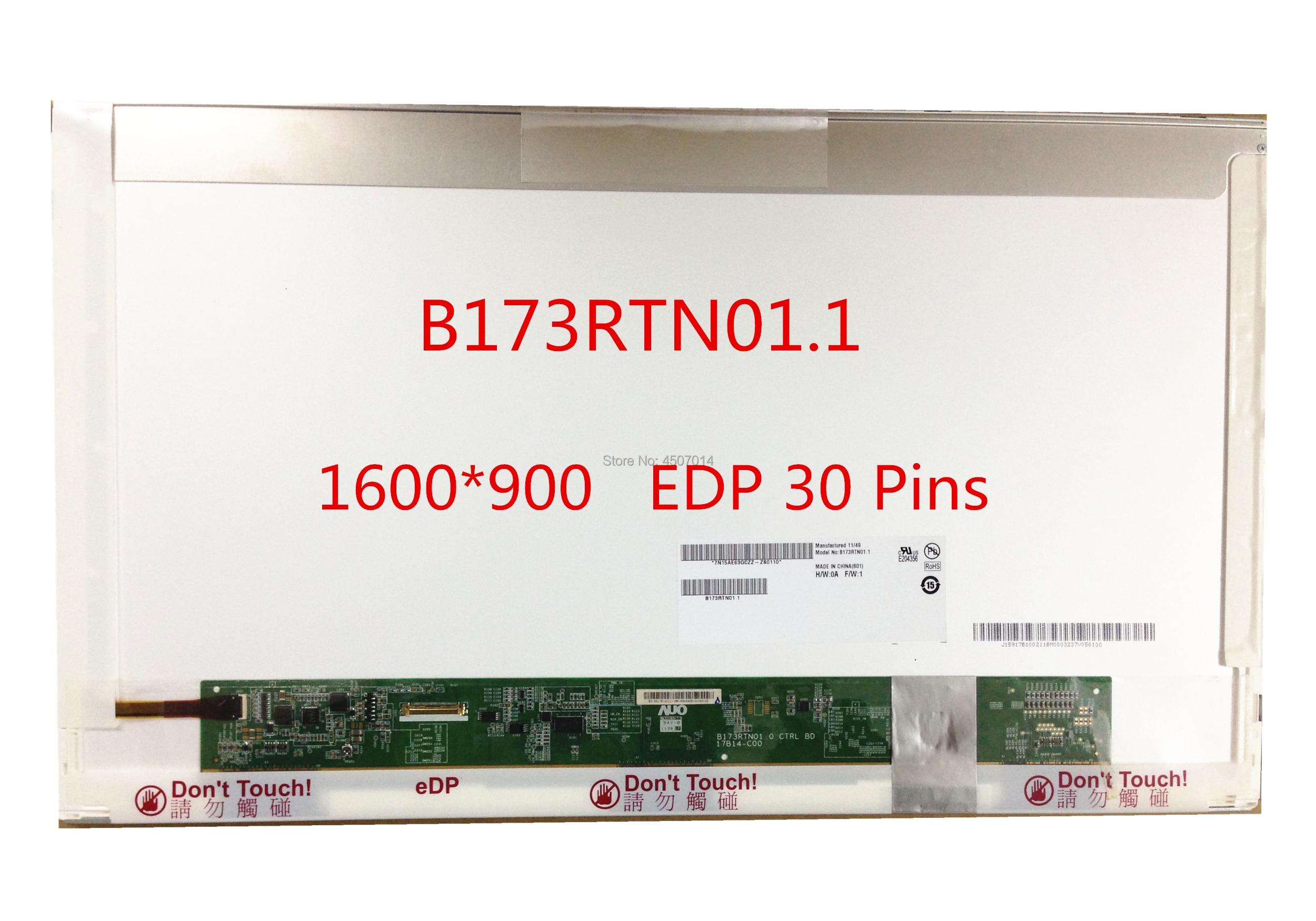 Free shipping B173RTN01.1 B173RTN01.3 B173RTN01.4 N173FGE-E23 LP173WD1 TPA1 TPE1 Laptop Lcd Screen 1600*900 EDP 30 PinsFree shipping B173RTN01.1 B173RTN01.3 B173RTN01.4 N173FGE-E23 LP173WD1 TPA1 TPE1 Laptop Lcd Screen 1600*900 EDP 30 Pins
