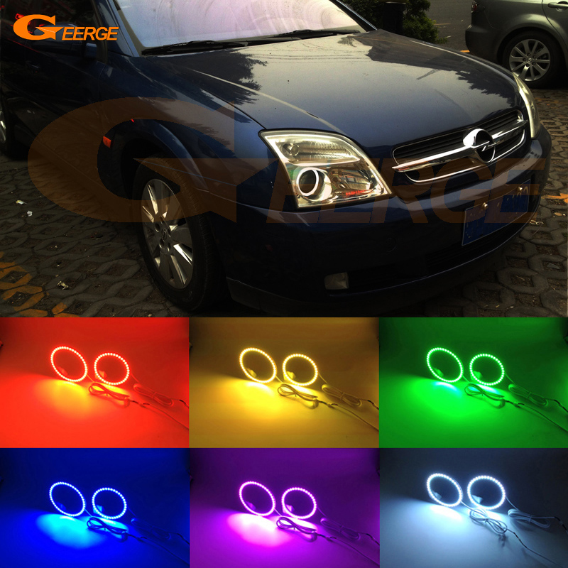 For Opel Vectra C 2002 2003 2004 Excellent RGB led Angel Eyes Multi-Color Ultra bright LED Angel Eyes Halo Ring kit for toyota wish 2003 2004 2005 excellent angel eyes multi color ultrabright rgb led angel eyes kit halo rings
