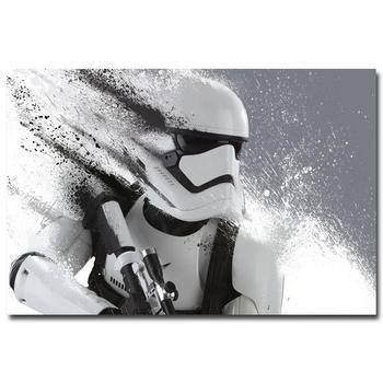 Плакат гобелен шелковый Звездные войны 7 Пробуждение силы штурмовик в ассортименте