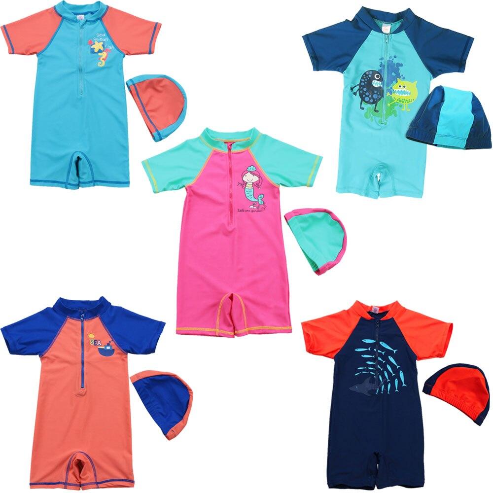 ▽2-10Y niños protección UV traje de baño niños natación traje de ...