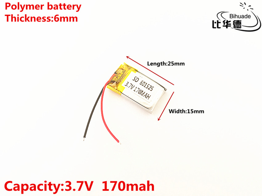601525 3.7V 170mah 601627 Lithium polymer Battery with Protection Board For MP3 MP4 MP5 GPS Digital Products Fr 5pcs size 401037 3 7v 140mah lithium polymer battery with protection board for bluetooth mp3 mp4 gps digital products f