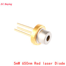 5Pcs 5mW 650nm Red Laser Diode Laser Module 650NM Diodes DIY 5MW LED Electronics Design lson d 301 5mw 650nm red laser pointer flashlight black 1 x 18650