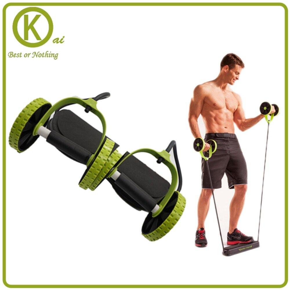 Machines intégrées d'ab de Double roue d'exercice de ressort d'équipement de forme physique pour le sport intérieur à la maison réglable