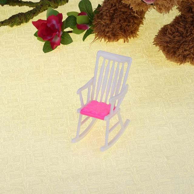 1Pc Pink Furniture Rocking Beach Chair Lounge For Barbie Doll Princess  Dreamhouse New Brand Accessories Children