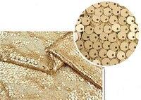 2 metros de Tecido De Lantejoulas De Ouro, Super Luxo vestido de Casamento Nupcial Vestido Tecido, chuveiro Tecidos Rendas, jsf010