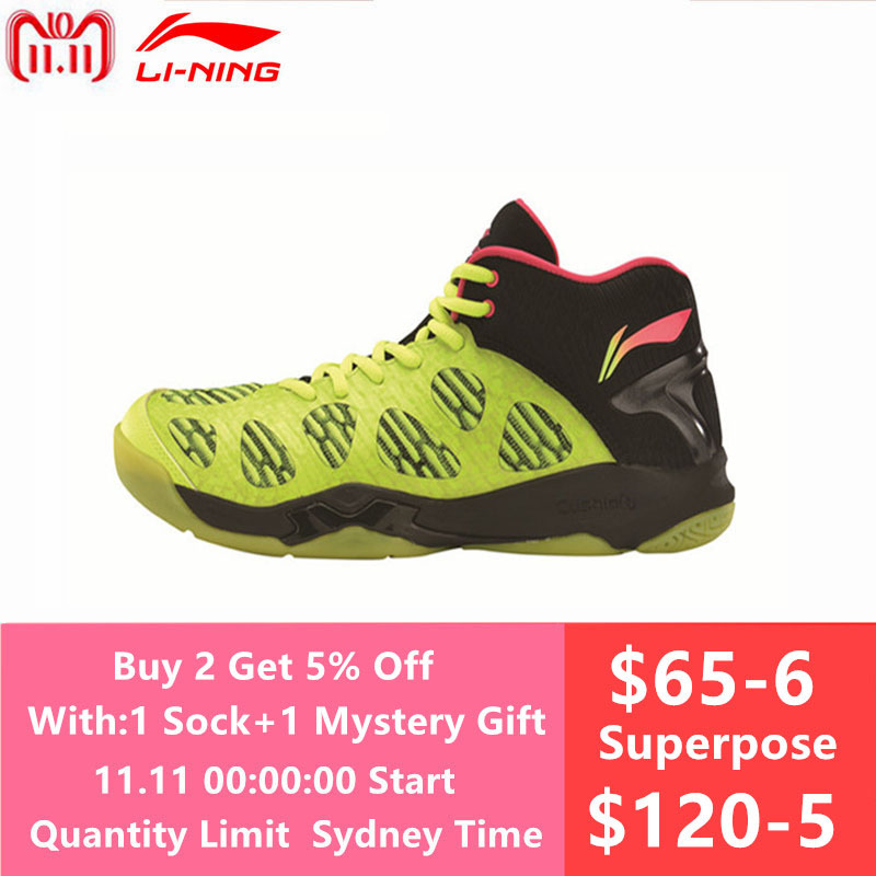 Li-Ning Newest Men's Badminton Shoes Breathable Lining Athletic Sneaker Anti-Slippery Sports Shoe LiNing Genuine AYAM011 L740OLC li ning professional badminton shoe for women cushion breathable anti slippery lining shock absorption athletic sneakers ayal024