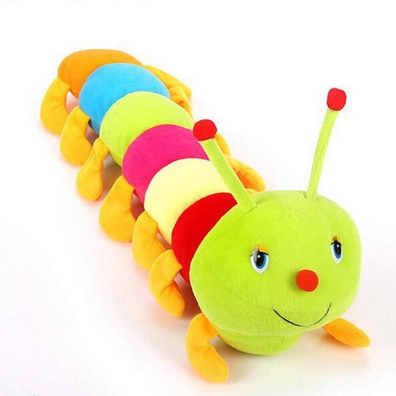 1 قطعة 50 سنتيمتر الملونة اليرقات الألفية علة دمية ألعاب من القطيفة الطفل الاطفال كبير كاتربيلر عقد وسادة دمية 88 FJ88