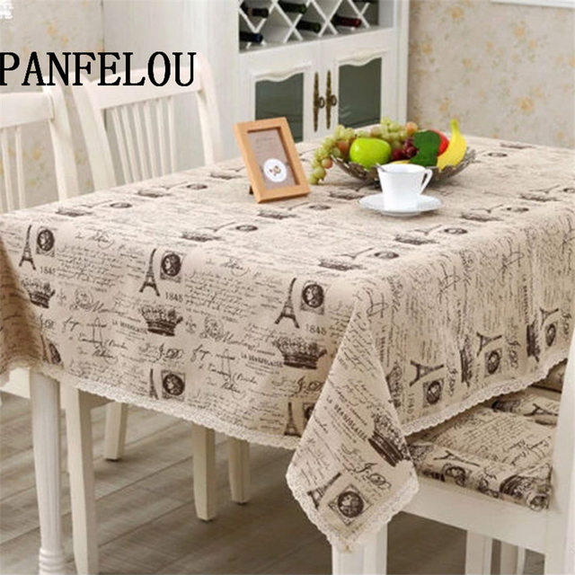 Charmant PANFELOU Mediterranean Style Cream Colored Poetry The Eiffel Tower Kitchen Table  Cloth Tea Table Cloth