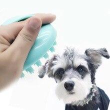 Собака массажер-Расческа силиконовая щетка для шерсти Массажная щетка для душа инструмент для собак кошек душ Товары принадлежности