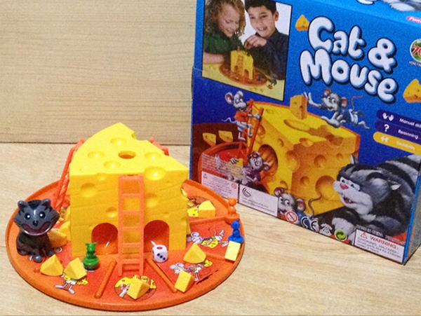 free shipping cat and mouse desk game cheese cake family table