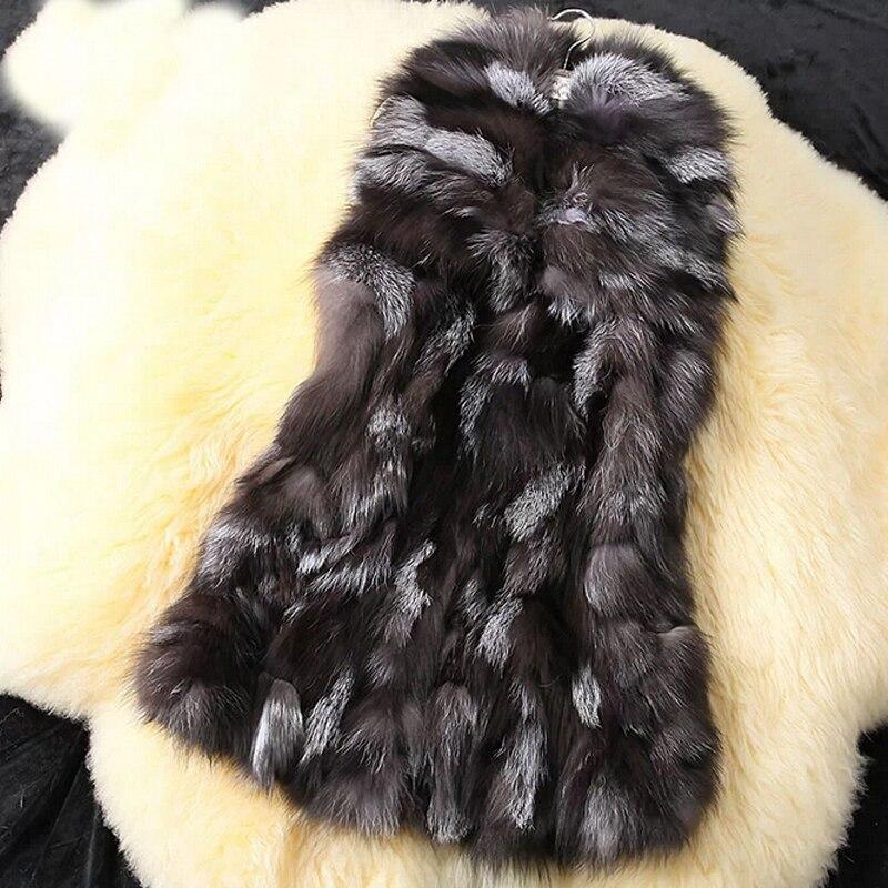 2018 Novedad Natural Piel Fur Kfp302b Genuina Venta Gilet Mujeres Fox Para Con Tamaño Más Hecho De Cuello Gran Real Chaleco Damas 6Bq6wEr