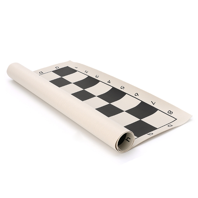 Hot Imitation Leather International Chess Chessboard Roll Portable Board Game Gift funny