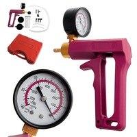 Cars Motorcycles Hand Held Vacuum Tester Pump Brake Bleeder Gauge Tool Kit